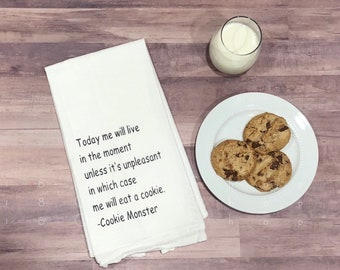 e80e4a8551c Cookie Monster knows best. Cookie Monster quotes. Kitchen decor. fun  kitchen decor. kitchen humor. tea towels. coffee bar.