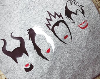 Disney Villains tee-Adult and youth sizes.
