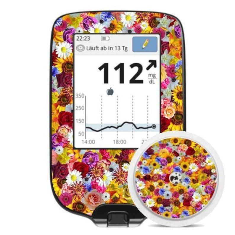 meter Freestyle Libre Sticker - Flower Meadow Diasticker\u00ae