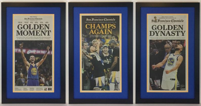edd67755a Golden State Warriors 2015 2017 & 2018 NBA Champions   Etsy