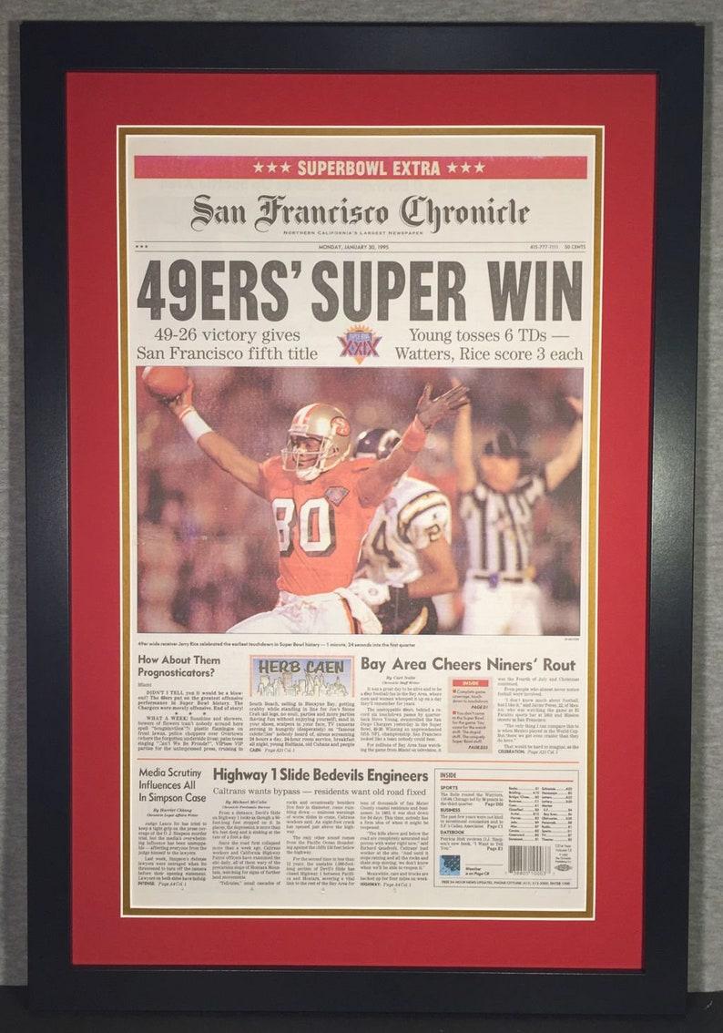 7b18afcaa15 San Francisco 49ers 1995 Super Bowl XXIX Champions San