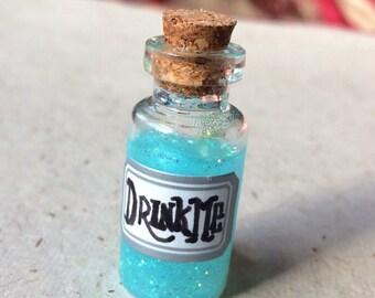 Drink Me, Alice in Wonderland Bottle Pins: Silver Sticker