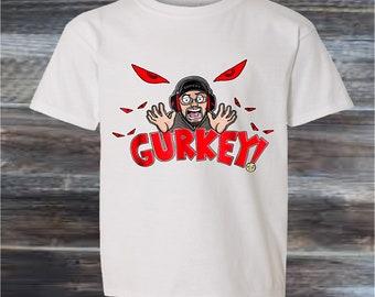 373d9f72 GURKEY FGTeeV FUNnel Vision youtuber gamer tuber T-SHIRT Family Gaming Team  Kids Top Children KT35