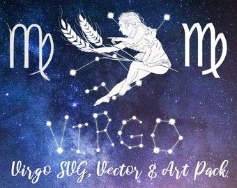 Virgo Zodiac Constellation, Virgo Horoscope, Celestial Art, Virgo Art, Zodiac Art, Virgo Constellation, Virgo Zodiac, Virgo Star Sign