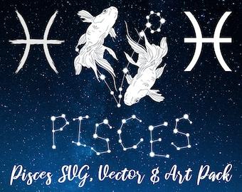 Pisces Zodiac Constellation, Pisces Horoscope, Celestial Art, Pisces Art, Zodiac Art, Pisces Constellation, Pisces Zodiac, Pisces Star Sign