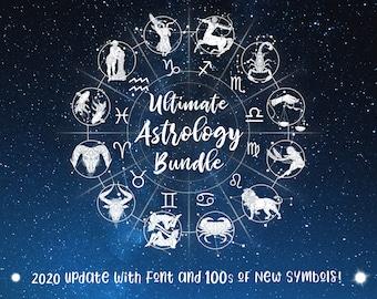 Ultimate Astrology Zodiac Bundle 350+ Files! (Updated 2020!) (Save 80%) Zodiac Astrology, Constellation, Zodiac Symbols, Star Signs, Glyphs