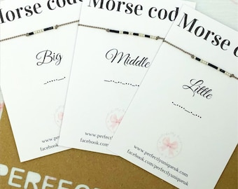 Morse Code Bracelets Personalized Bracelet Party Fillers Favours Birthday Gifts Big Brother Little Sister