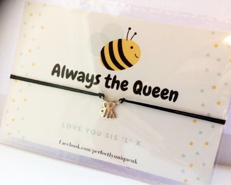 macrame bracelet Bee better soon gift queen bee bee charm bracelet bee charm macrame bracelet get well soon gift bee charm