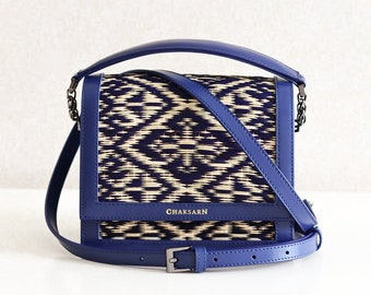 Leather woven bag  0766dd0204575