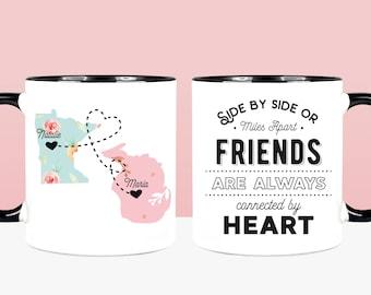 Long Distance Mug Friendship Mug Friends Mug State To State Mug Best Friend Moving Mug Best Friend Mug Friends Forever Friend Going Away