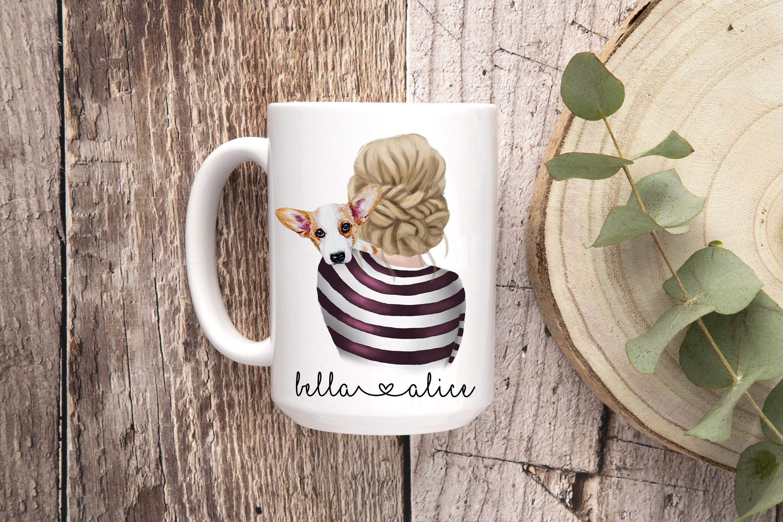 Details about  /Corgi Coffee Mug Corgi Mom Mug Personalized Corgi Coffee Mug Fur Mama Dog Mom