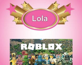 Roblox Birthday Card Roblox Birthday Card Etsy