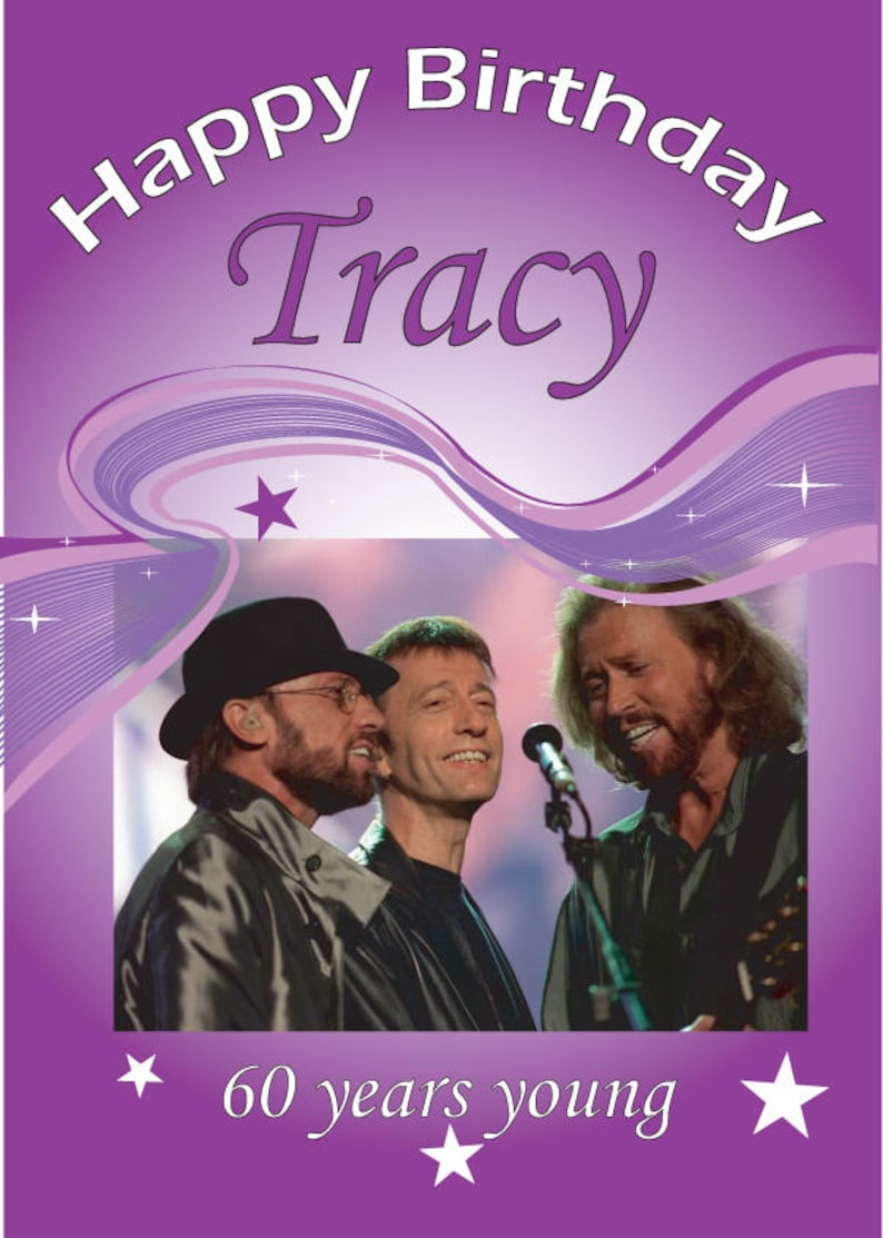 Bee Gees Personalised Birthday Card For Any Budding Fan