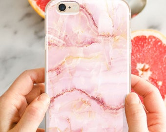 Marble iPhone X case, rose gold marble, iPhone 7 plus case, iPhone 8 plus case, Galaxy S7 8 9 marble case, iPhone 6s plus case, rose marble