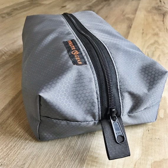 Pochette de boîte en nylon ripstop grand en gris