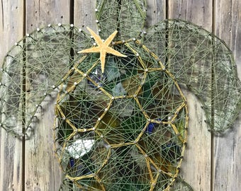 String Sea Turtle Wall Art filled with Mosaic tiles