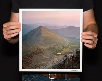 "Sunrise Mountain Photo, Colorado 14er Print, Garys and Torreys Photo, Continental Divide Photo, Mountain Landscape Print, ""14er Sunrise"""