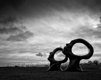 """Fine art photographic print of """"Search for Enlightenment"""" located at Sculpture by the Lakes, Pallington, Dorset, UK"""