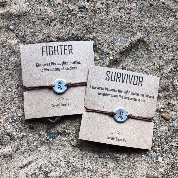 Holly Road Prostate Cancer Awareness Silver Survivor Bracelet Jewelry Choose Your Text