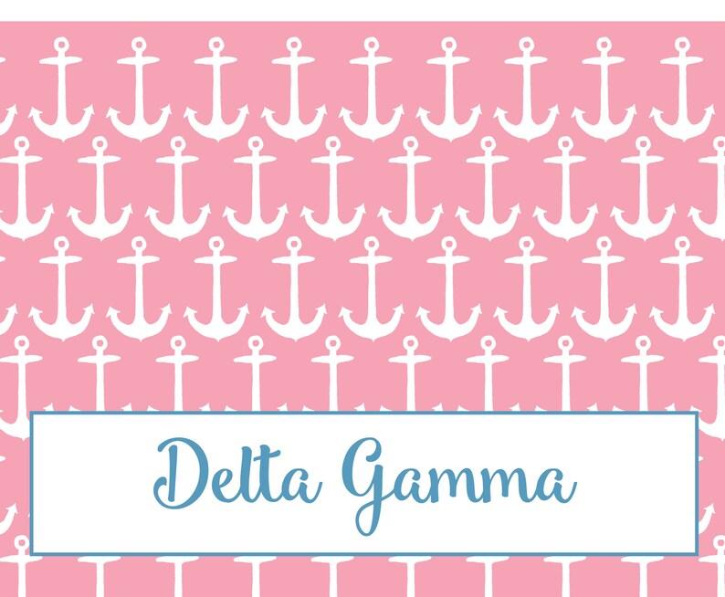 Delta Gamma Bid Day Fan