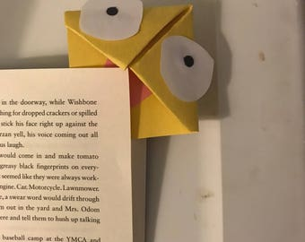 Yellow monster bookmark