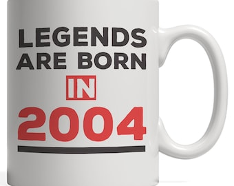 Legends Are Born In 2004 Mug