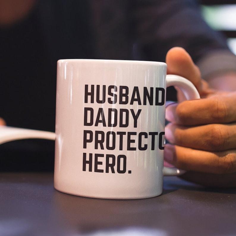 4ef134114 Husband Daddy Protector Hero Mug My Dad Is My Hero Gift For | Etsy