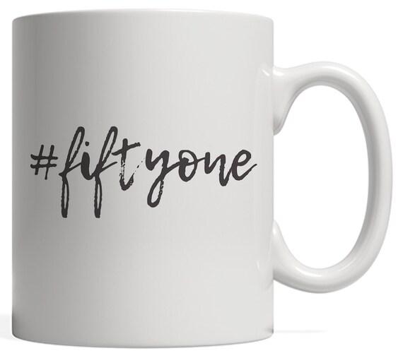 51st Birthday Teenager Mug Gift Hashtag Milestone 51 Happy Etsy