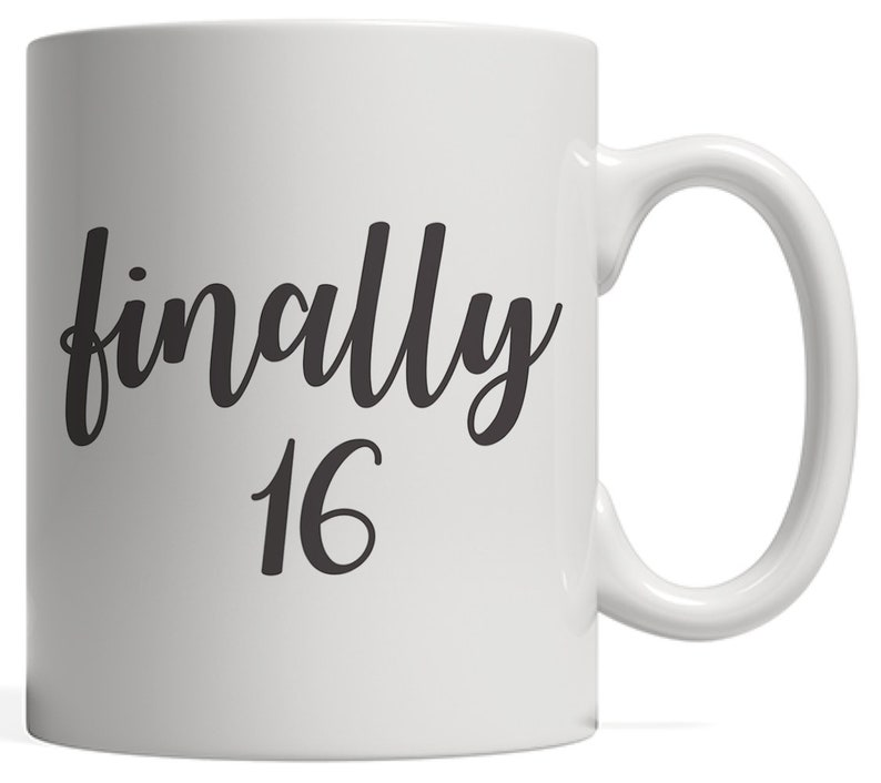 Finally 16 Mug 16th Birthday Anniversary Gift For Year