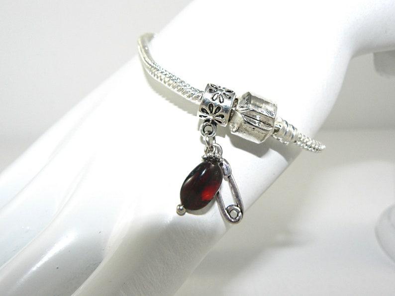 201e1a7bc Natural Baltic amber bead charm for Pandora style bracelets | Etsy