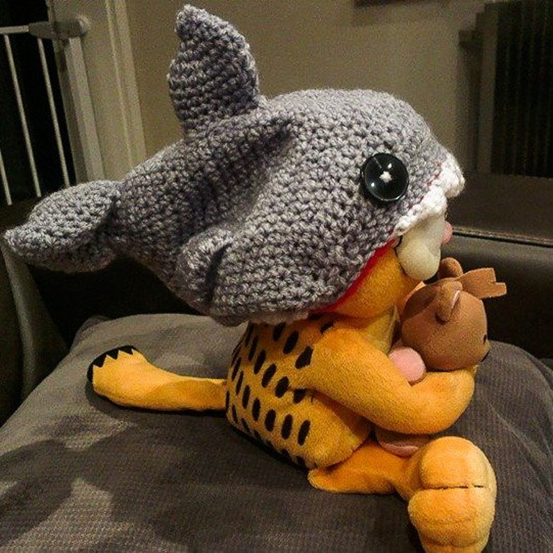 Crochet KIT for Shark Hat pattern included child toddler and adult all sizes from baby make your own baby shark hat