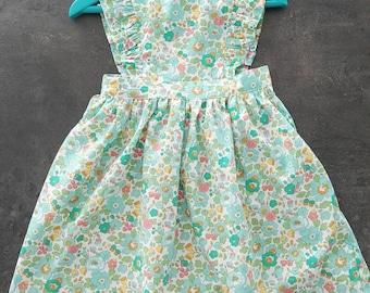 Emerald apron dress
