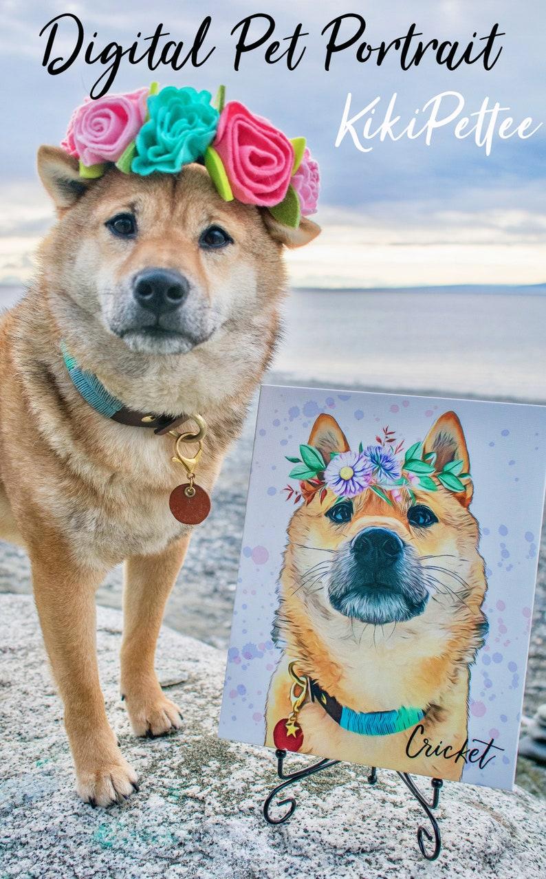 Printable art Dog lover gift Dog mom Anniversary gift Custom pet portrait Pet loss gifts pet loss gift  dog memorial gift loss of dog art