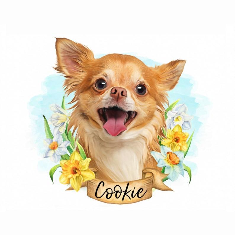 Digital Pet Portrait Custom,Boston Terrier Dog portrait Custom,Dog Memorial Personalized gift,Dog lover Dog Mom Pet Memorial sympathy gift