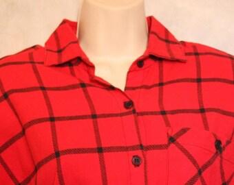 Carol Anderson California Red Shirtwaist Dress Size S/M Cotton True Vintage USA