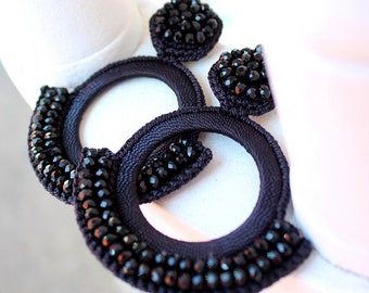 Black Crochet Statement