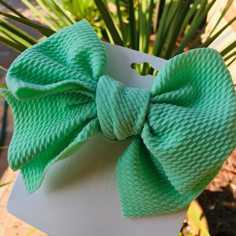 Alligator Clip Bows Waffle Bow Baby Girl