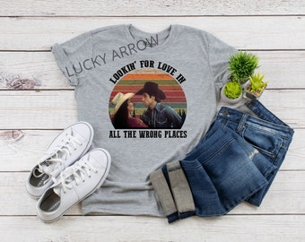 8a1dae5f3 Urban Cowboy T-Shirt-Lookin' For Love T-Shirt-John Travolta