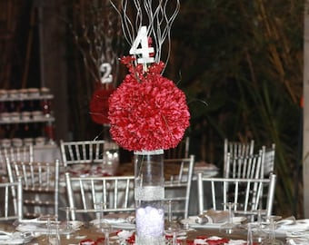 Crystalized Rhinestone Vase Centerpiece for Weddings Parties and Events