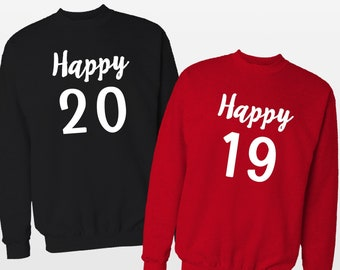 King And Queen Couple Sweaters 2019 New Year Gift For Couple Etsy