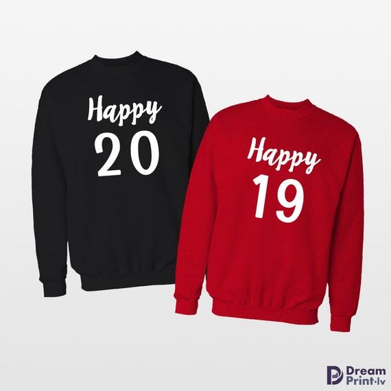 New Years Eve Couple Sweaters 2019 Matching Couple New Year Etsy