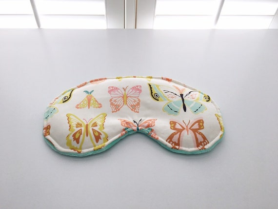 Butterfly Weighted Sleep Mask Headache Relief Pressure Etsy