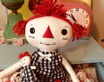 Polly Ann - Rag Doll - Raggedy Ann - Cloth Doll