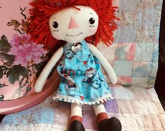 Sue Ann - Rag Doll - Raggedy Ann - Cloth Doll