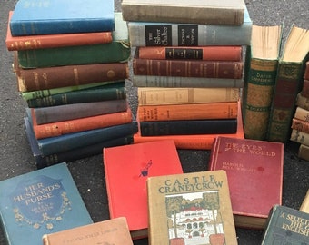 A set of 8 antique books