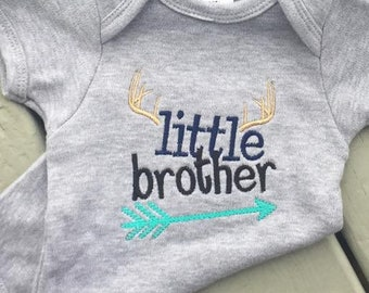 Personalized Buck Hunter Arrows Little Brother OR Little Sister Shirt