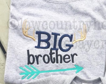 Personalized Buck Hunter Arrows Big Brother OR Big Sister Shirt