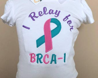 Personalized Relay for Life I relay for BRCA - 1 Cancer Awareness Shirt