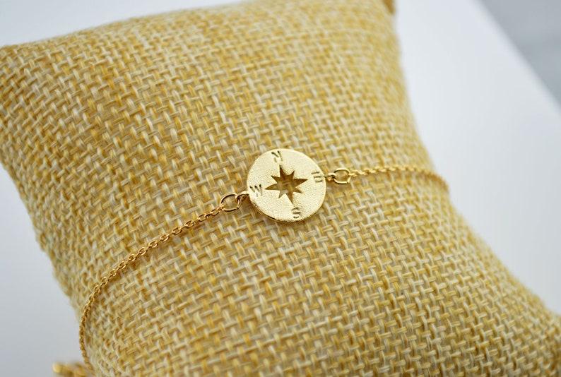 Minimalist Bracelet Wanderlust Gold Jewellery Bridesmaid Gifts Compass Bracelet Gold Bracelet for Women Gold Compass Bracelet