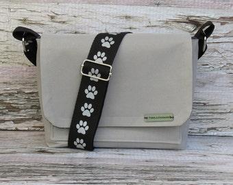 Water Proof Canvas Dog Walking Bag • Adjustable Dog Training Bag • Gift for Dog Walker • Gift for Dog Mom • Crossbody Bag
